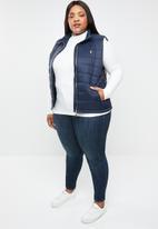 POLO - Zia sleeveless jacket - navy