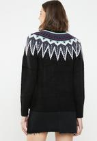 Jacqueline de Yong - Solis long sleeve high neck pullover - multi