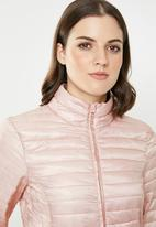 Jacqueline de Yong - Maddy padded jacket - pink