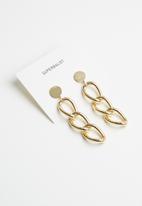 Superbalist - Kelly chain link drop earrings - gold