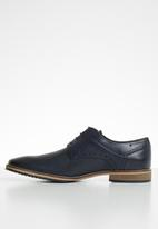 Pringle of Scotland - Wilbert leather lace-up - navy