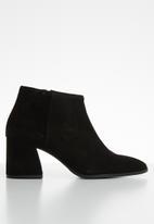 Vero Moda - Ronja leather ankle boot - black