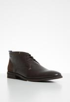 Pringle of Scotland - Brant leather boot - brown
