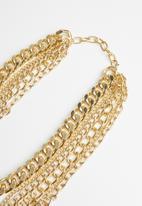 Superbalist - Jasmine multi chain necklace - gold