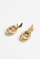 Superbalist - Alison hoop earrings - gold