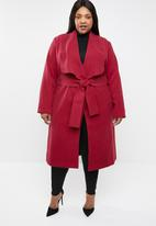 STYLE REPUBLIC PLUS - Waterfall coat - red