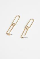 Superbalist - Olivia chain link earrings - gold