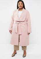 STYLE REPUBLIC PLUS - Waterfall coat - pink