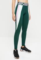 PUMA - Full tight legging performance - green & pink