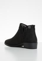 Call It Spring - Faux leather laser-edge ankle boot - black