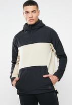 Reebok - TS control hoodie - black & beige