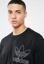 adidas Originals - Outline crew short sleeve tee - black & white