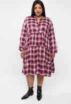 STYLE REPUBLIC PLUS - Tiered A-line dress - multi