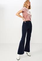 Cotton On - Violet velvet short sleeve tee  - pink