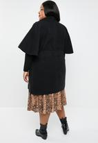 STYLE REPUBLIC PLUS - Flutter sleeve coat  - black