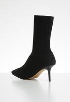 ALDO - Textile sock heel boot - black