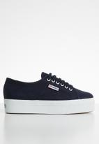 SUPERGA - 2790a Cotw classic canvas full wedge - f43 navy / white