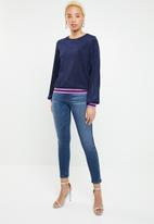 ONLY - Caysa long sleeve top - blue