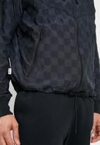 Nike - M nsw nsp wr jkt check - black