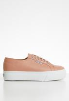 SUPERGA - 2790 Nappa leather full flatform wedge - u10 rose mahogany
