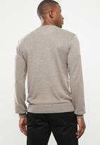 POLO - Crew neck pullover - taupe