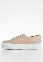 SUPERGA - 2790 Nappa leather full flatform wedge - n 17 nude