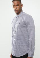 POLO - Signature custom fit shirt - red & navy