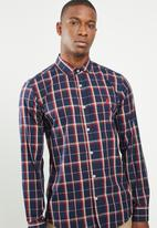 POLO - Signature custom fit shirt - navy