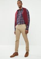 POLO - Signature custom fit shirt - navy