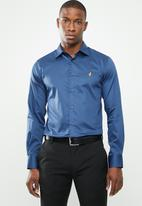 POLO - Greig custom fit shirt - blue