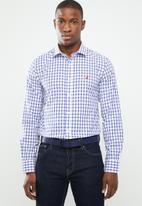 POLO - Signature custom fit shirt - white & navy