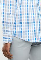 POLO - Signature block fit shirt - blue