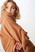 Cotton On - Maxie oversized hoodie  - tan