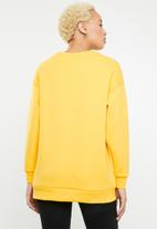 ONLY - Star long round neck sweat top - yellow