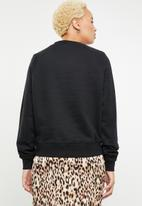 ONLY - Lotta long sleeve round neck sweat - black