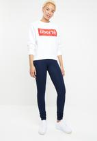 ONLY - Lotta long sleeve round neck sweat - white