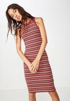 Cotton On - Lena midi dress  - red