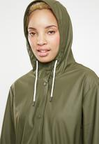 ONLY - Fine raincoat - green