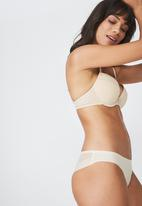 Cotton On - Everyday mesh push up - beige