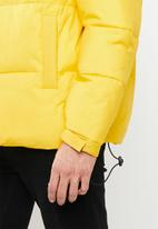 Mennace - Colour blocked puffer jacket - black & yellow