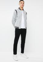 Mennace - Varsity bomber jacket - grey