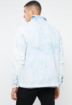 Mennace - Bleached overhead denim jacket - blue