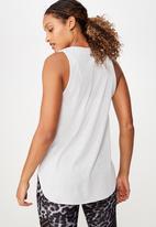 Cotton On - Active curve hem tank - grey