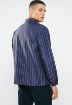 Mennace - Pinstripe coach jacket - navy & white