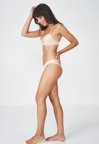 Cotton On - Mesh panel brasiliano brief - beige