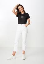 Cotton On - Classic slogan change the world tee  - black