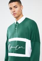 Mennace - Signature long sleeve rugby top - green