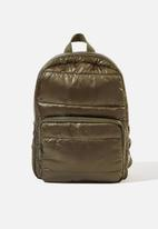 Cotton On - Puffer backpack - khaki