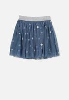 Cotton On - Polka-dot tulle skirt - blue