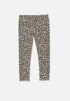 Cotton On - Animal print jean - white & brown